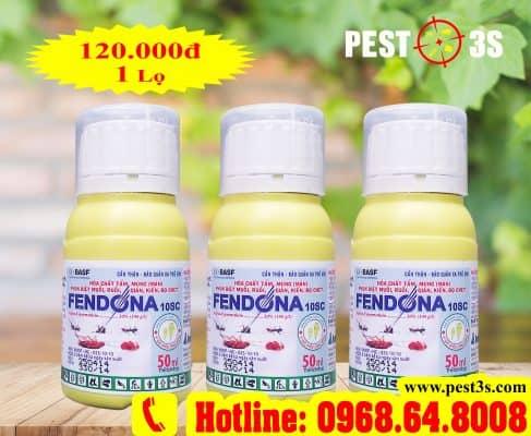 Fendona 10SC (50ml) - (BASF - CHLB ĐỨC) - Thuốc diệt côn trùng, muỗi, gián, ruồi, kiến, bọ chét, ve rận..3 khoang