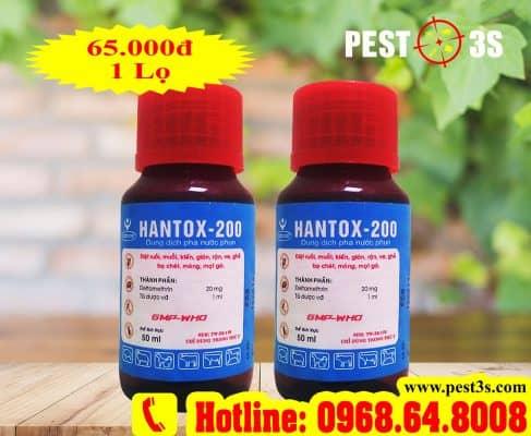 Hantox 200 - Thuốc diệt bọ chét, ve rận, bọ nhảy chó mèo chuyên dụng