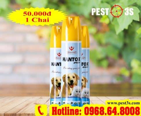 Hantox SPRAY (300ml) - (SX tại VIỆT NAM) - Thuốc xịt trị bọ chét, bét, ve, chấy, rận...cho Chó Mèo 3