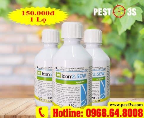 Thuốc diệt muỗi, diệt côn trùng hiệu quả nhất Icon 2.5EW (250 ml) - (Syngenta THỤY SỸ)