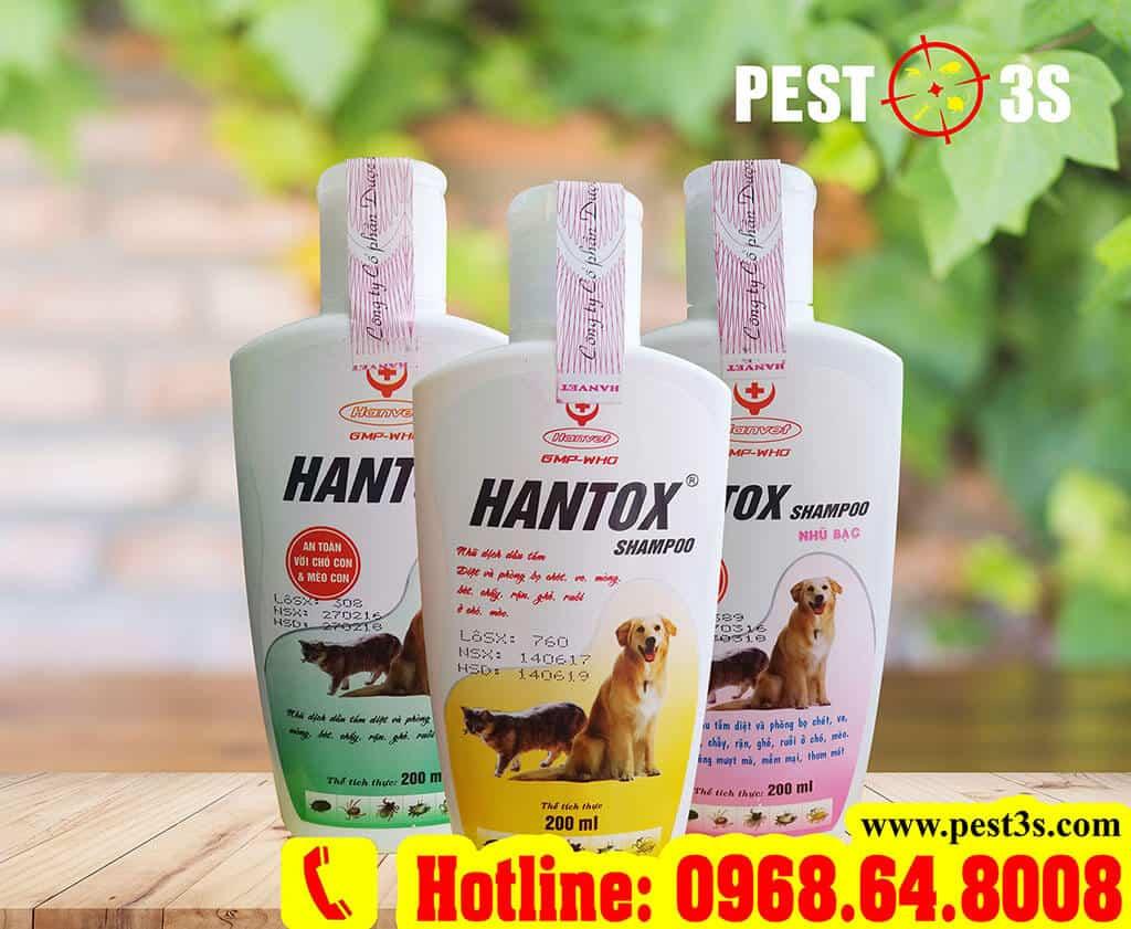 Hantox Shampoo sữa tắm phòng và diệt bọ chét, ve rận cho chó