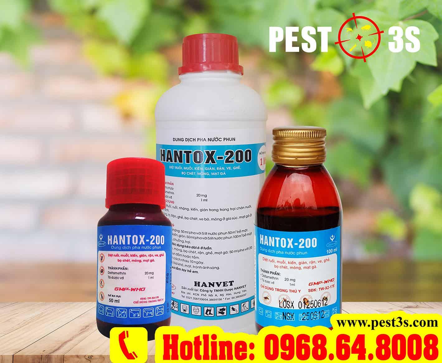 Thuốc diệt muỗi, ruồi, bọ chét Hantox-200