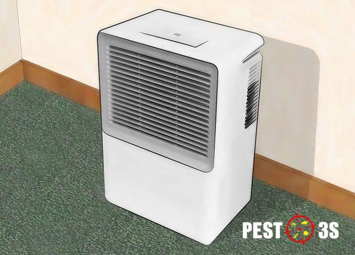 Máy hút ẩm diệt bọ chét trong nhà