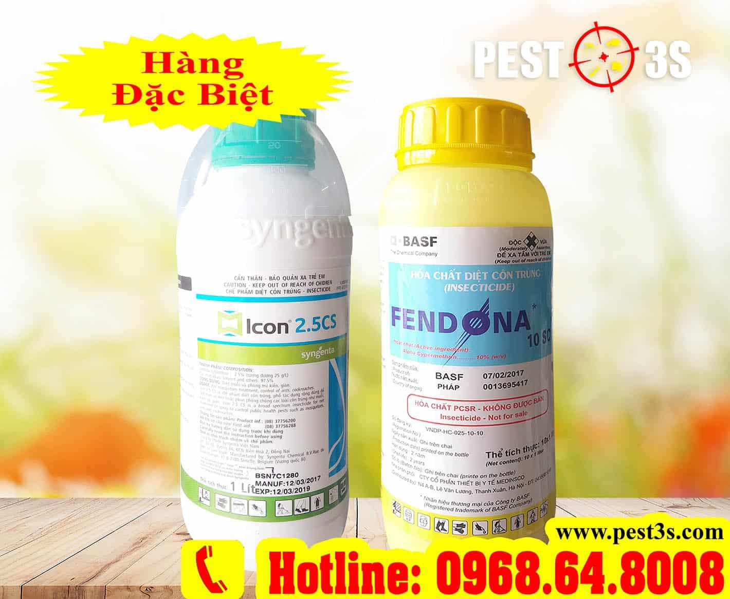 Hóa chất diệt côn trùng Fendona 10SC, Icon 2,5CS